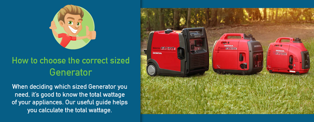 How to choose the correct sized Generator