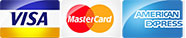 credit cards accepted - visa mastercard american express
