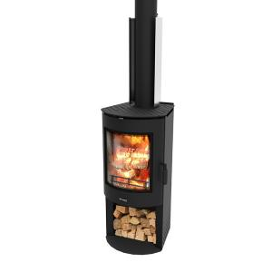 Masport Akaroa Clean Air Wood Fire with Wood Stacker Base with Flue Kit