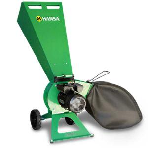 Hansa C3-E Electric Brush Chipper Shredder including Catcher Bag
