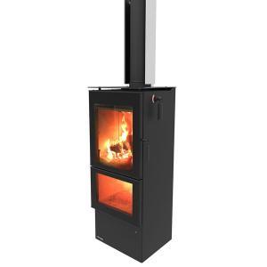 Masport Mystique Ultra Low Emissions Burner Wood Fire with Flue Kit